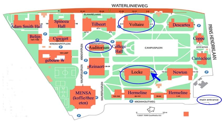 plattegrond UCU