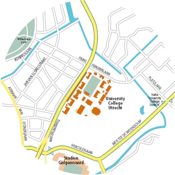 plattegrond omgeving UCU